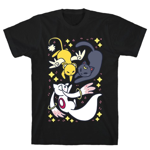 Magical Mascots - Luna, Kero and Kyubey T-Shirt