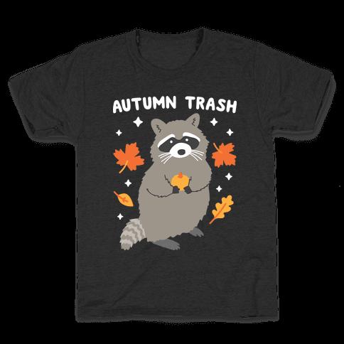 Autumn Trash Raccoon Kids T-Shirt