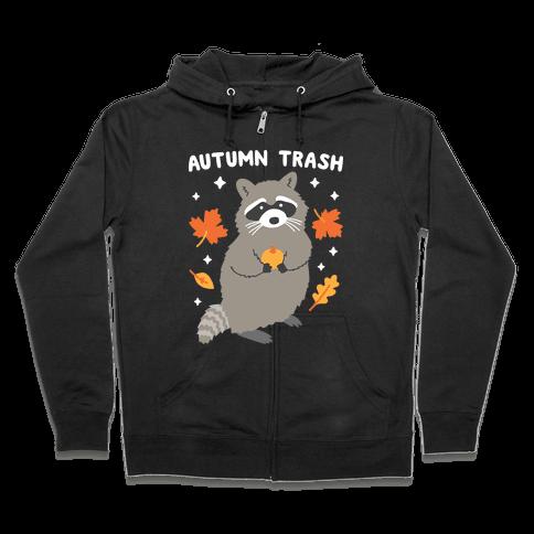 Autumn Trash Raccoon Zip Hoodie
