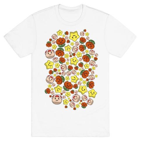 Stuffed Powerups Pattern T-Shirt