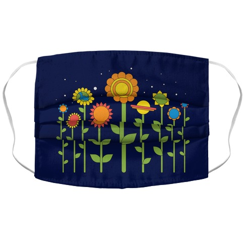 Plant Planets Accordion Face Mask