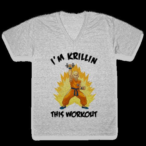 I'm Krillin This Workout V-Neck Tee Shirt