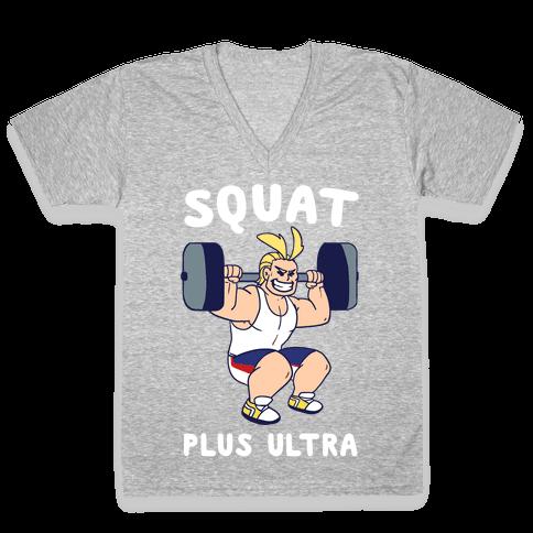 Squat Plus Ultra - All Might V-Neck Tee Shirt