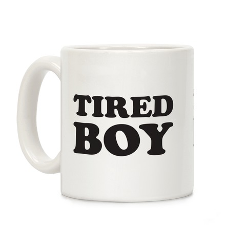 Tired Boy Coffee Mug