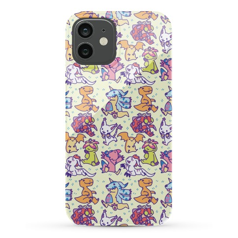 Digital Monsters Pattern Phone Case