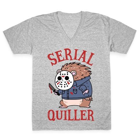 Serial Quiller V-Neck Tee Shirt