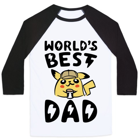 World's Best Dad Parody Baseball Tee