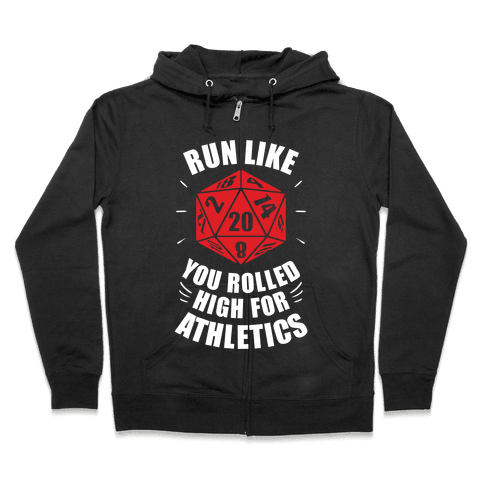 Run Like You Rolled High For Athletics Zip Hoodie