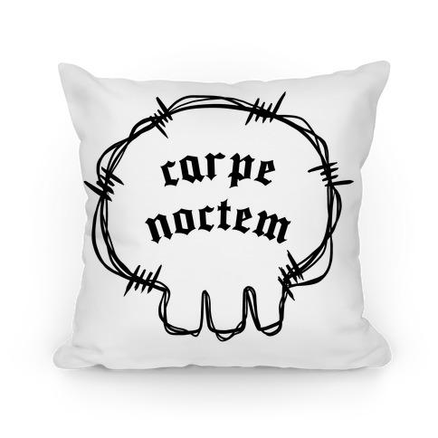 Carpe Noctem (white)  Pillow