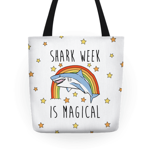 Shark Week Is Magical Parody Tote
