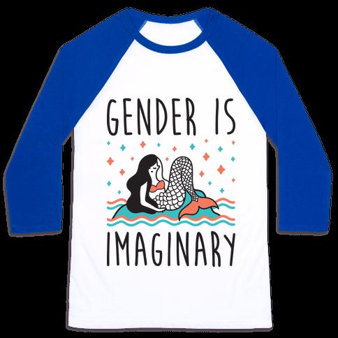Gender Is Imaginary Mermaid Baseball Tee