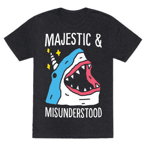 Majestic And Misunderstood Shark Mens T-Shirt