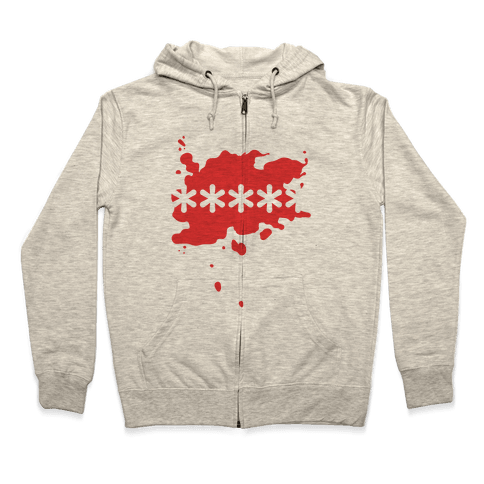 Futaba Red Splatter Zip Hoodie