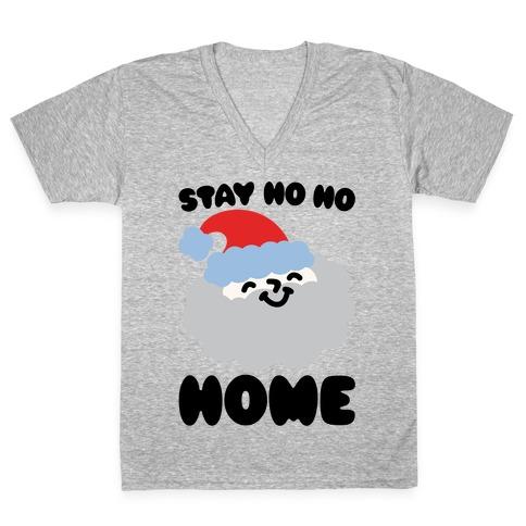 Stay Ho Ho Home V-Neck Tee Shirt