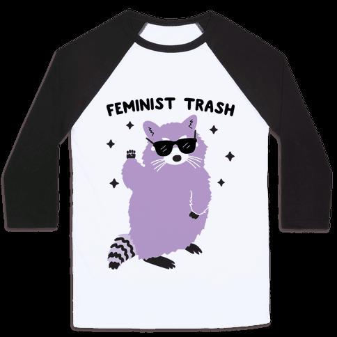 Feminist Trash Raccoon Baseball Tee