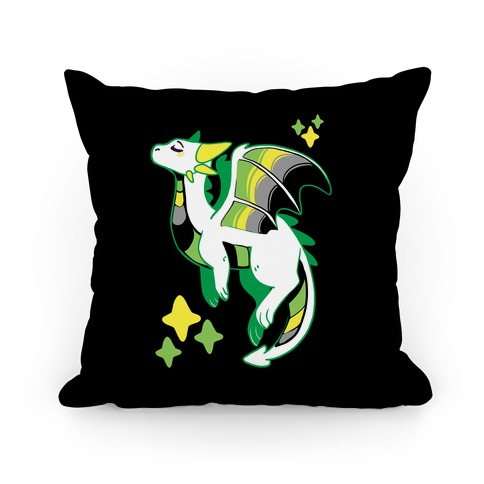 Aromantic Pride Dragon Pillow