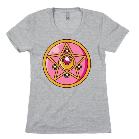 Sailor Moon Crystal Star Brooch Womens T-Shirt