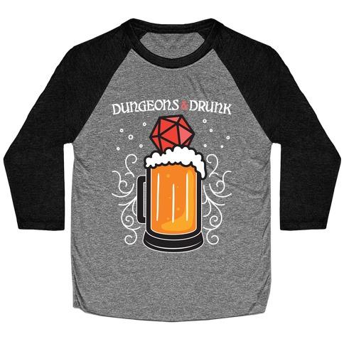 Dungeons & Drunk Baseball Tee