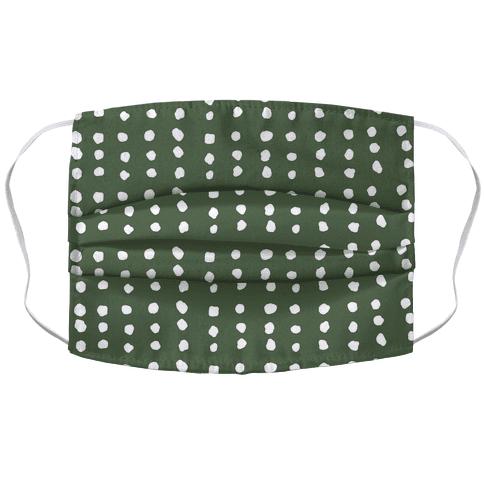 Polka Dot Chive Minimalist Boho Pattern Face Mask Cover