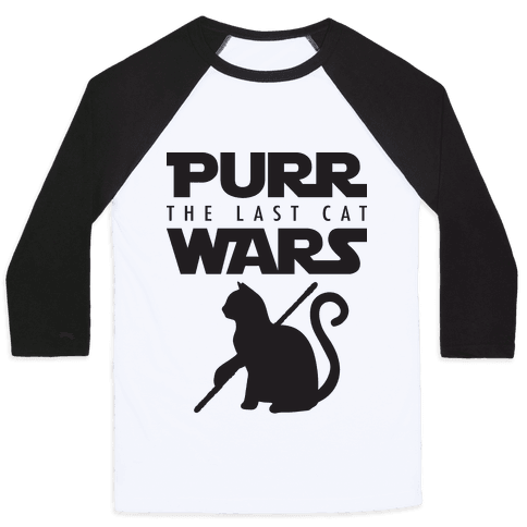 Purr Wars: The Last Cat Baseball Tee
