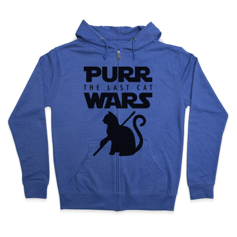 Purr Wars: The Last Cat Zip Hoodie