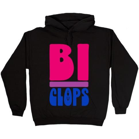 Bi-Clops Bisexual Cyclops Parody Hooded Sweatshirt