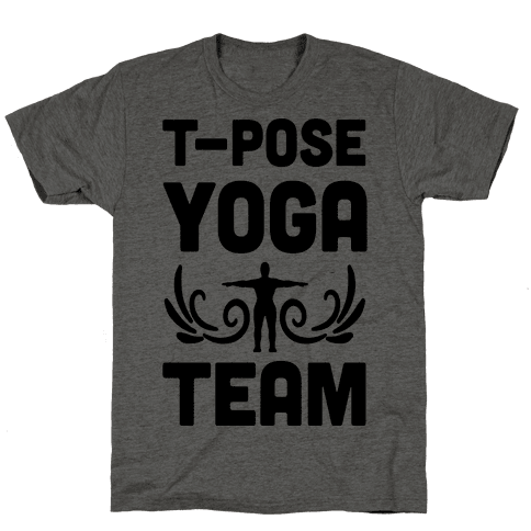 Yoga T-Pose Team Mens T-Shirt