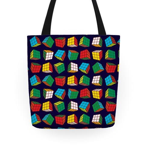 Rubix Cubes Pattern Tote