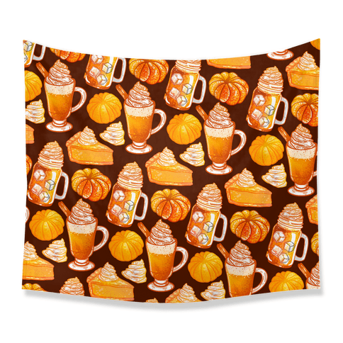 Pumpkin Everything Pattern Tapestry