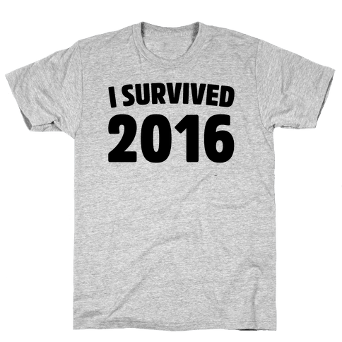 I Survived 2016 Mens T-Shirt
