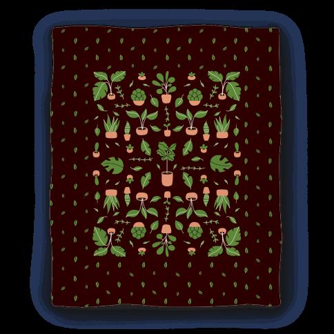 Houseplant Pattern Blanket