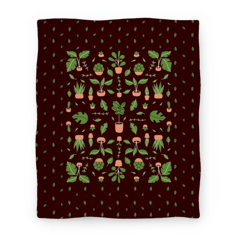 Houseplant Pattern Blanket