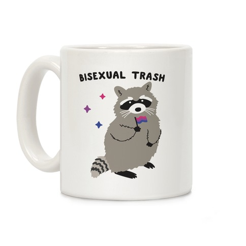 Bisexual Trash Raccoon Coffee Mug