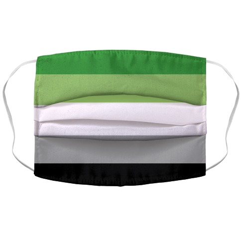 Aromantic Pride Flag Accordion Face Mask