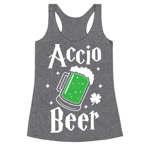 Accio Beer St. Patrick's Day Racerback Tank Top