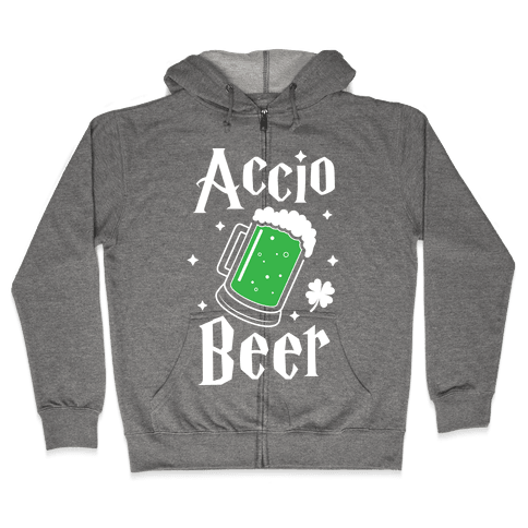 Accio Beer St. Patrick's Day Zip Hoodie