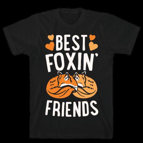 Best Foxin' Friends White Print Mens T-Shirt