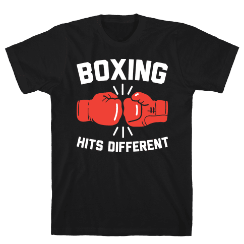 Boxing Hits Different Mens/Unisex T-Shirt