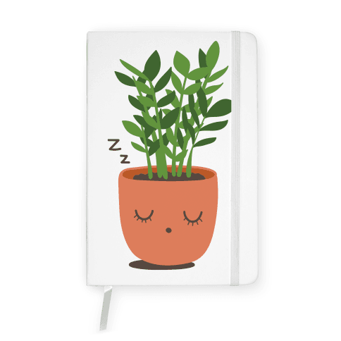 Sleepy ZZ Plant Notebook