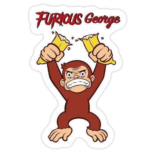 Furious George Die Cut Sticker