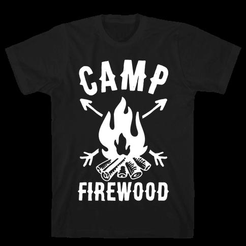 Camp Firewood Mens T-Shirt