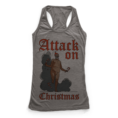 Attack On Christmas Racerback Tank Top