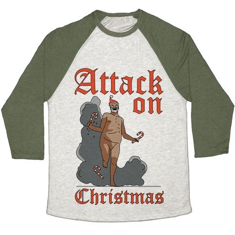 Attack On Christmas Baseball Tee