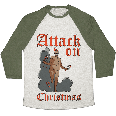 Attack On Christmas Baseball Tee