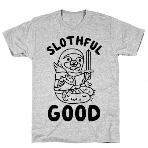 Slothful Good Sloth Paladin Mens T-Shirt