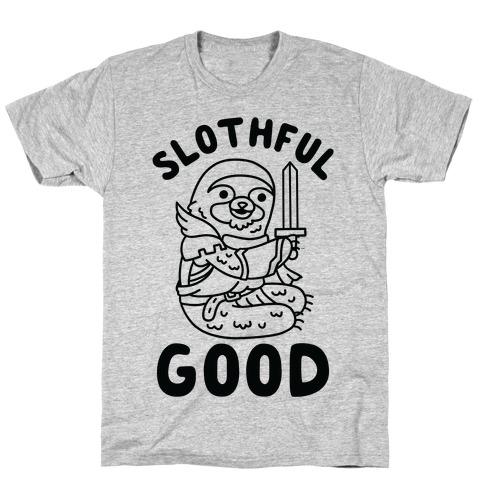 Slothful Good Sloth Paladin T-Shirt