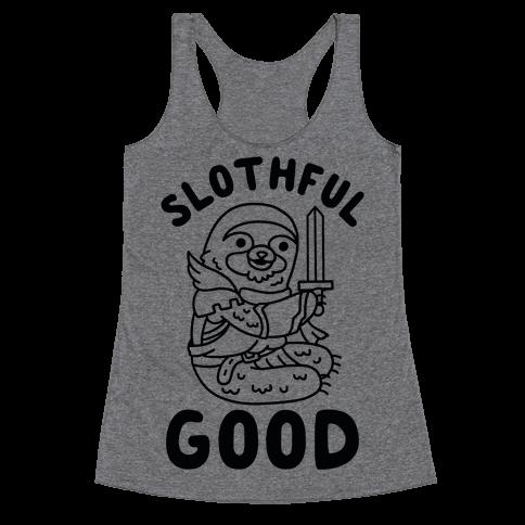 Slothful Good Sloth Paladin Racerback Tank Top