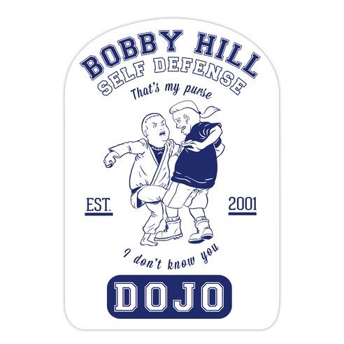 Bobby Hill Self Defense Dojo Die Cut Sticker