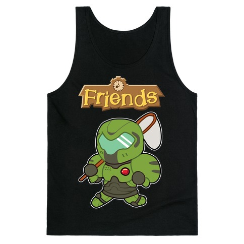 Best Friends Doomguy and Isabelle Tank Top