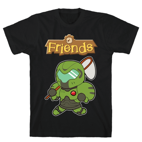 Best Friends Doomguy and Isabelle Mens/Unisex T-Shirt